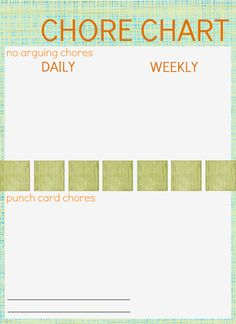 Chore charts and punch cards. Go to www.picmonkey.com to specialize how you want it.