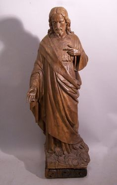 Wood Carving of Jesus Christ on Cross | Old Italian Wood Carving of Jesus Christ