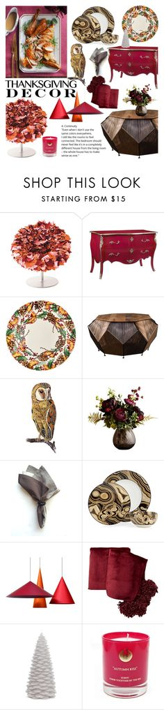 """""""Thanksgiving Decor"""" by cstarzforhome ❤ liked on Polyvore featuring interior, interiors, interior design, home, home decor, interior decorating, Frontgate, DOMESTIC, Abigail Ahern and Nordstrom Rack"""
