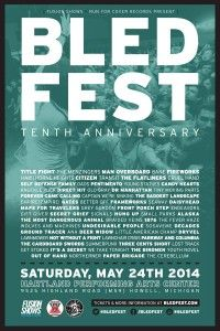 BLED Fest announces 2014 lineup featuring The Menzingers, The Flatliners, Direct Hit! and more