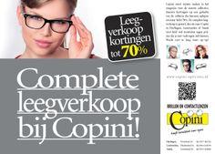 Weer heel veel korting bij Copini Opticiens! Kortingen tot wel 70% op de bekende modemerken!