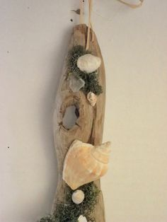 Driftwood Wall Hanging With Seashells and by AngelsNEverlastings, #CASTTEAM #BEACH