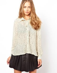 Image 1 of Minkpink Small Star Print Shirt