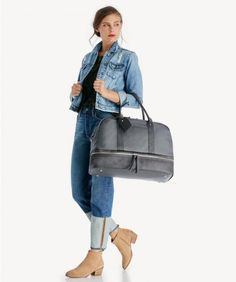 The Mason Weekender Vegan Leather Weekender from Sole Society. Shop our new arrivals today and get off your first purchase! Stylish Handbags, Fashion Handbags, Jackie Onassis Kennedy, Replica Handbags, Designer Handbags, Ankle Straps, Wearing Black, Looking For Women, Her Style
