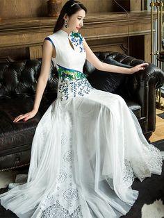 Ao Dai, Mermaid Evening Dresses, Evening Gowns, Prom Gowns, Cheongsam Dress, Prom Dress Shopping, Ladies Dress Design, Pretty Dresses, Long Dresses