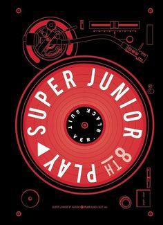 Super Junior Play 8th Album [Black Suit Ver] CD + Booklet + Card K-POP Sealed