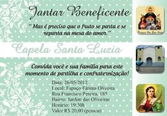 40 Convites para Jantar beneficente continue vendo...