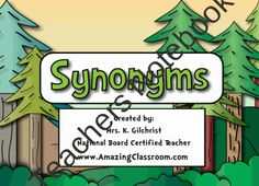Super Synonyms Lesson for SMART Notebook - Smartboards Synonym Activities, Smart Board Activities, Smart Board Lessons, Speech Therapy Activities, Kindergarten Activities, Middle School Grammar, Promethean Board, Speech And Language, Language Arts