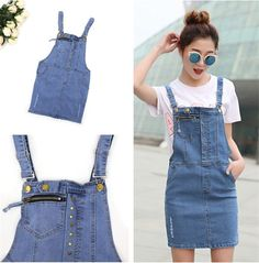 8a9ce1e8a8f7 Womens Dungaree Denim Playsuit Ladies Pocket Strap Shorts Jumpsuit Dress  Top Womens Dungarees