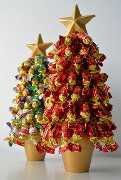 annan aarteet: karkkikuusi joulukoristeeksi // TÄÄ ON NIIN HIENO!! Diy Christmas Tree, Merry Little Christmas, Modern Christmas, Christmas Candy, All Things Christmas, Handmade Christmas, Christmas Decorations, Easy Handmade Gifts, Diy Presents