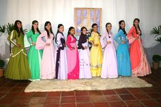 Vestidos de Prenda--The traditional dresses worn by the Gauchas or cowgirls in southern Brazil.