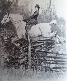 "The cover of ""The Hunting Diary of Alida K. Fitzhugh,"" (Genesee Valley Hunt Club, Geneseo NY) originally hand-written in 1891"