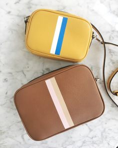 6c5d960c8096 Hand Painted Women's Leather Crossbody Bags with Stripe Only Option Leather  Crossbody Bag, Leather Purses