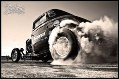 1932 Ford 3-Window Coupé Burnout (2006) by Pixeleye Interactive // Dirk Behlau, via Flickr