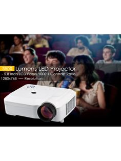 3500 Lumens LCD Projector (White) Lcd Projector, Contrast, Led, Projectors