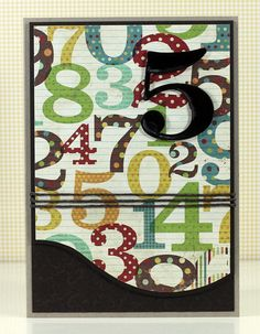 Colorful numbers card