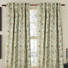Gracious Living Harmony Linen Rod Pocket Single Drape Panel