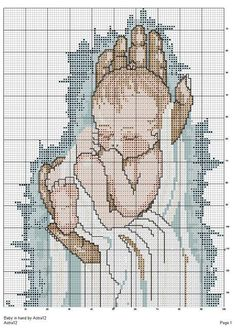 Baby In Hand - 2/2 Solo Patrones Punto Cruz (pág. 264) | Aprender manualidades es facilisimo.com