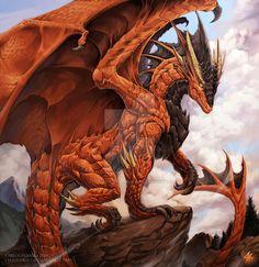 MZLoweRPP verified link on 7/22/2016 Source: Chaos-Draco.deviantart.com Artist: Carlos Herrera Artist's Title: Daeron the Red dragon