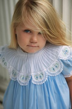 Heavenly Blue Dress perfect for a tea party!  #orientexpressed #lace #girlsdresses