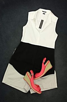 A little weekend outfit inspiration!  Love that pop of color!!