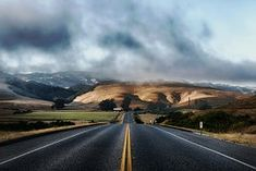 California, Road, Highway, Mountains