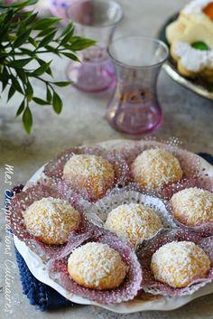 boule de neige, gâteau algerien à la noix de coco Ramazan Mubarak, Eid Mubarak Greetings, Cake & Co, Tea Time, Buffet, Biscuits, Coconut, Sweets, Cookies