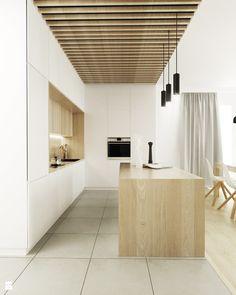 Średnia otwarta kuchnia w kształcie litery l w aneksie z wyspą z oknem, styl skandynawski - zdjęcie od FOORMA Pracownia Architektury Wnętrz