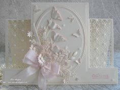 Paper Crafts Card making Wedding Anniversary Cards, Wedding Cards, Side Step Card, Stepper Cards, Poppy Cards, Tattered Lace Cards, Shaped Cards, Fancy Fold Cards, Flower Cards