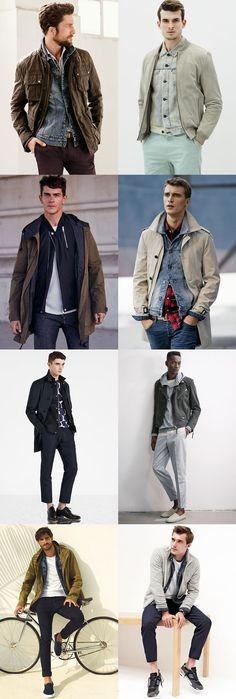 Men's Lightweight Spring/Summer Jacket Layering Outfit Inspiration Lookbook