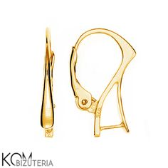 Gold-plated silver leverback earring kz 2 for proffesional and handmade jewelry (1 pair) from KOM Bizuteria by DaWanda.com