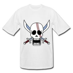 ded9b72a Big Mouth Skull Flag Of One Piece Short Sleeve T-shirts on Sale-Art