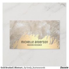 Gold Brushed | Abstract Modern Art | Fashion Business Card