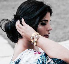Para compor o look, nada melhor que eles, os acessórios! Pulseiras Carmen Steffens que dão um ar  fashion ao visual! ✨✨✨ Bracelets