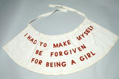 "Louise Bourgeois. 1992. Garment from the performance ""She Lost It"""