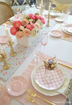 Easy Easter tablescapeSimple Easter beautiful Easter table decorations ideas - page 29 of 40 - SeShell beautiful Easter table decorating ideasVictorian Easter Crafts