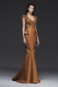 Exquisite Dress Collection From Mireille Dagher Fall Winter - Be Modish Elegant Dresses, Pretty Dresses, Formal Dresses, Couture Dresses, Fashion Dresses, Bridal Dresses, Gowns Of Elegance, Beautiful Gowns, Couture Fashion