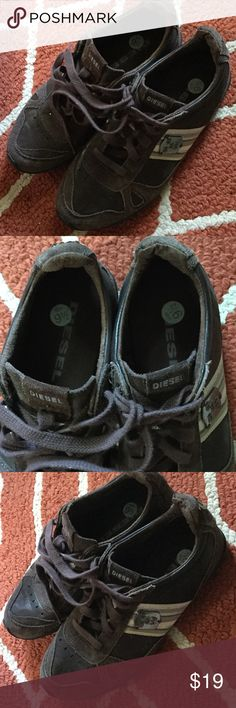 Diesel 9.5 brown suede shoes Diesel brown suede and leather upper.  Size 9.5. Leather upper, rubber sole, balance man made materials. Sole is in like new condition! Excellent, clean condition! No odors! Non smoking home Shoes Athletic Shoes