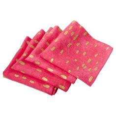 Coral and Gold Dot Napkins #huntersalley