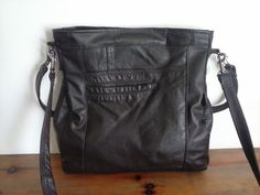 brown leather bag/ recycled leather by BagsBand on Etsy