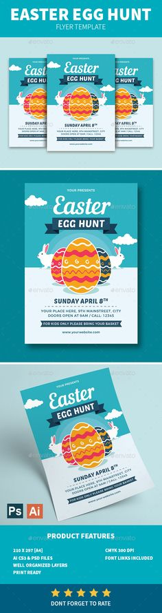 Easter Egg Hunt Flyer — Photoshop PSD #8.27x11.69 #card • Download ➝ https://graphicriver.net/item/easter-egg-hunt-flyer/21615078?ref=pxcr