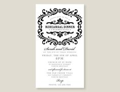 Rehearsal Dinner Printable Invitation by paperhightea on Etsy, $15.00