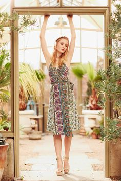 Take our quiz to discover your Spirit Print! Ivara Printed Linen Wrap Dress.