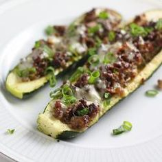 cheeseburger stuffed zucchini more stuffed zucchini boats easy low ...