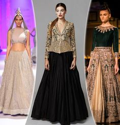 Lehenge and gown style sarees - trending womens wedding wear in South East Asia