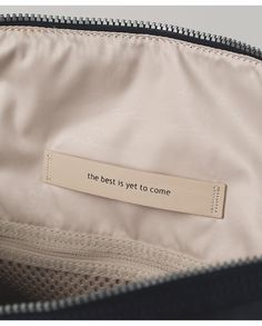 lululemon makes technical athletic clothes for yoga, running, working out, and most other sweaty pursuits. Brown Aesthetic, Quote Aesthetic, Tag Design, Label Design, Fabric Labels, The Best Is Yet To Come, Happy Words, Clothing Labels, Day Bag
