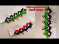 Saree Kuchu New Designs, Saree Tassels Designs, Blouse Designs, Hand Art Kids, Art For Kids, Fancy Jewellery, Stylish Blouse Design, Indian Gowns Dresses, Beading Tutorials