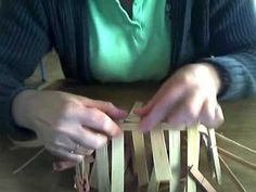 Basket Weaving Video - Weaving the first two rows