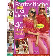 Fantastische brei-ideeën: 40 nieuwe trends.  Een tijdschrift met daarin meer dan 35 patronen, breipatronen, maar ook enkele haakpatronen.