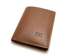 Mens wallet  Personalized Leather Wallet Billfold by sakao on Etsy, $200.00